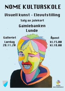 Plakat elevutstilling 28.11